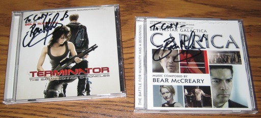 Terminator: TSCC and Caprica signed by Bear McCreary